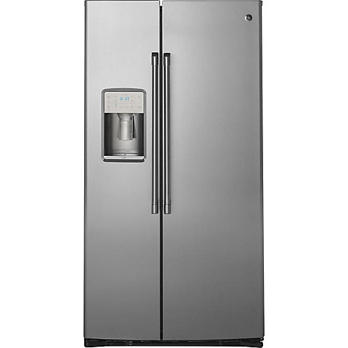 36-inch W 21.9 Cu. ft. Counter Depth Built-in Side by Side Refrigerator in Stainless Steel