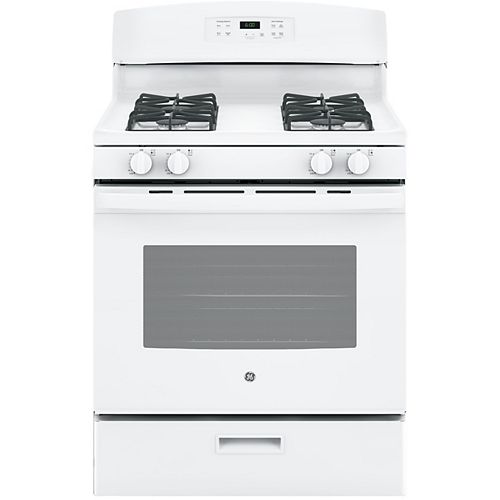 30-inch 4.5 cu. ft. Single Oven Gas Range with Oven in White