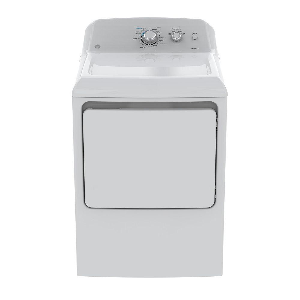 GE 7.2 cu. ft. Front Load Gas Dryer in White
