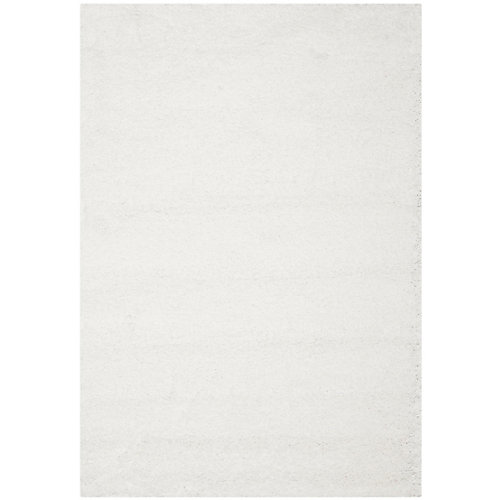 Carpette, 8 pi x 10 pi, à poils longs, rectangulaire, blanc California