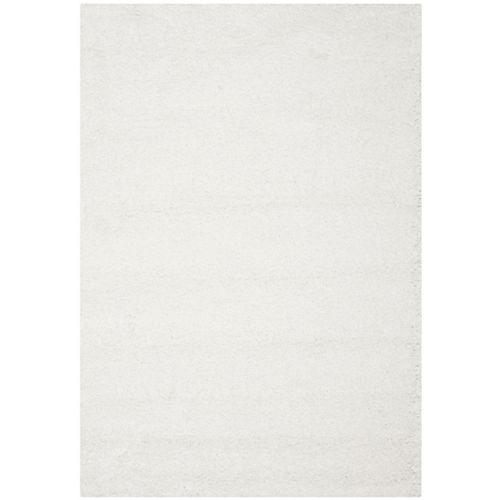 Carpette, 8 pi x 10 pi, à poils longs, rectangulaire, blanc California