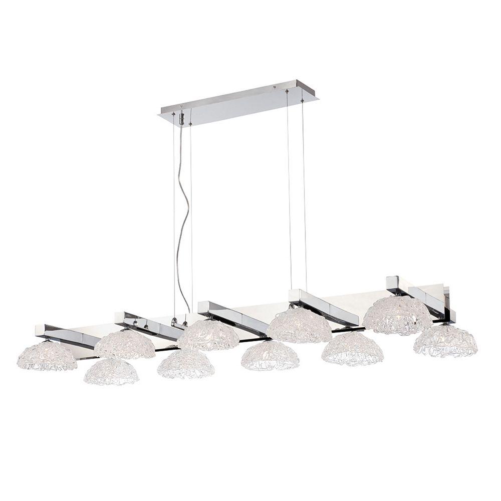 Eurofase Caramico Collection, 10-Light Chrome Chandelier
