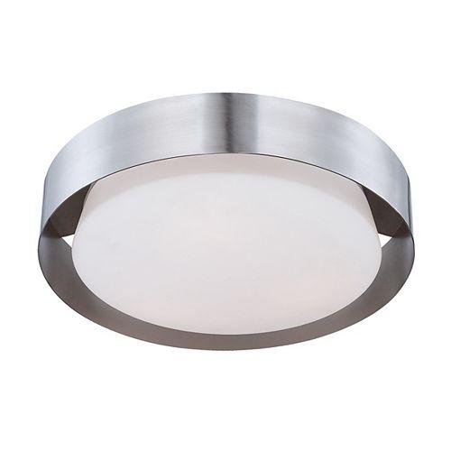 Collection Saturn, plafonnier nickel satiné à 1ampoule DEL