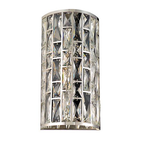 Lusso Collection, 2-Light Chome Wall Sconce