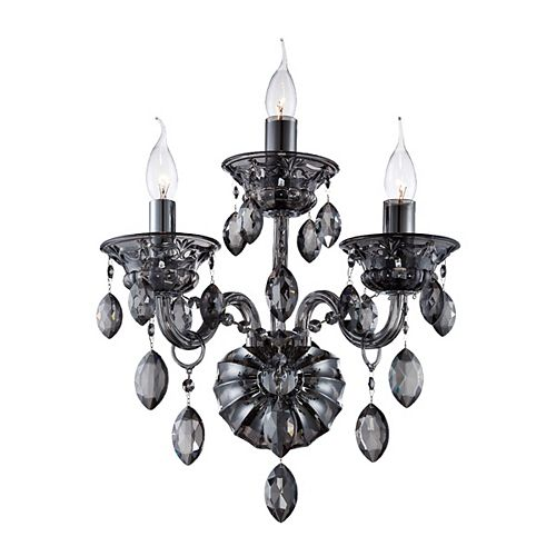 Eurofase Venetian Collection, 3-Light Smoke Wall Sconce
