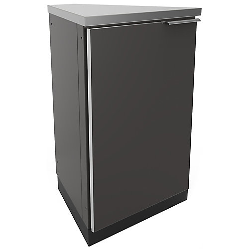 Aluminum Slate of 45 Degree Corner 22.3x36x24.1-inch Outdoor Kitchen Cabinets (2-Pack)