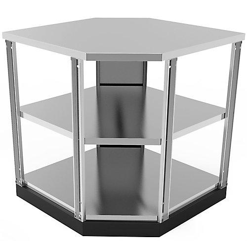 Stainless Steel Classic 90 Degree Corner 34x36x34-inch Outdoor Kitchen Shelf Cabinet