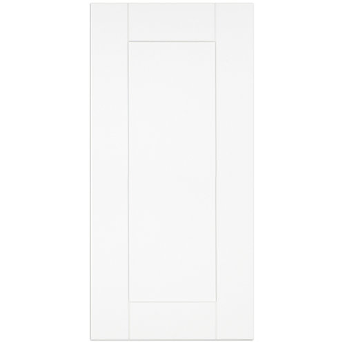 Oxford - Door 15 inch x 30 inch - White matt thermofoil