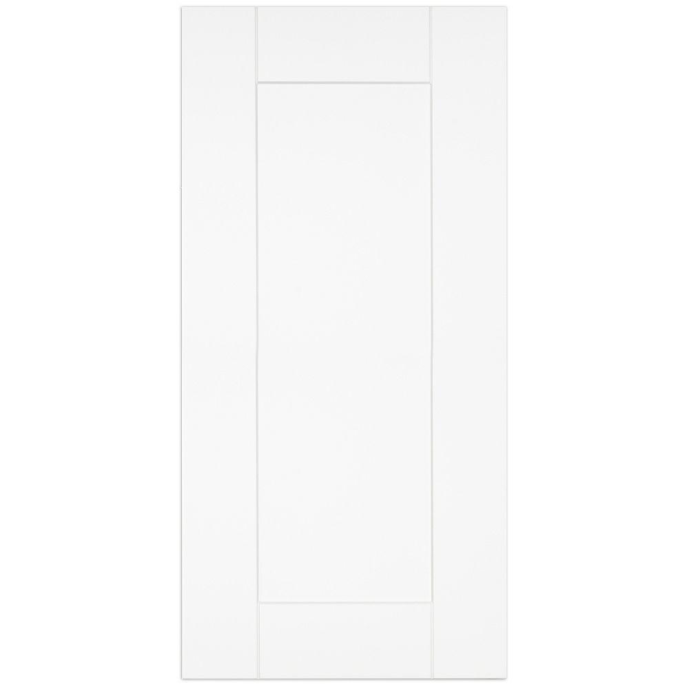 """Eurostyle Oxford - Porte - 15""""x30"""" - Thermoplastique blanc mat"""