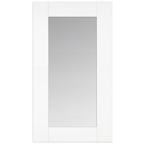 Eurostyle Oxford - Glass Door 18 inch x 30 inch - White matt thermofoil