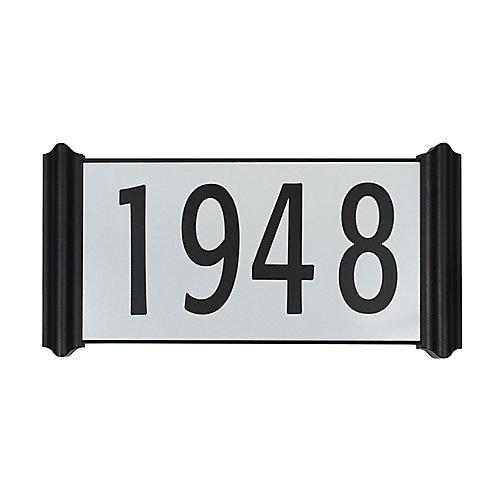 Plaque d'adresse contemporaine facile à installer