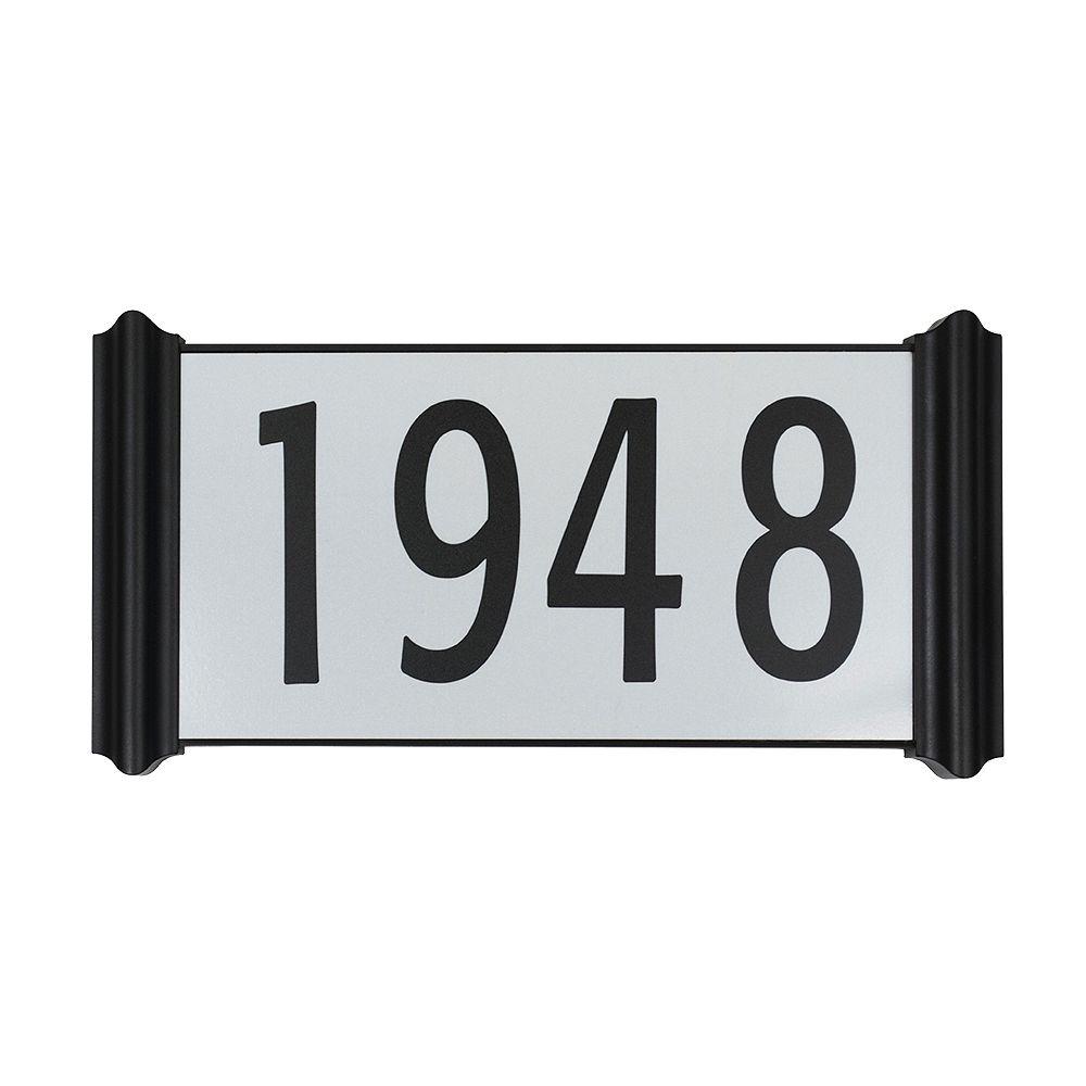 Taymor Plaque d'adresse contemporaine facile à installer