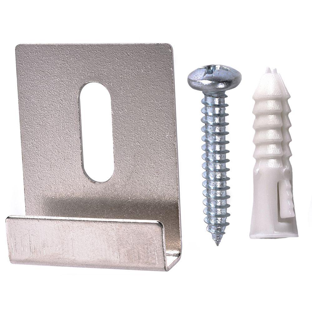 Crochet Pour Tableau Lourd clips rétroviseurs à canal large de 20 lb maxi - 4 ensembles