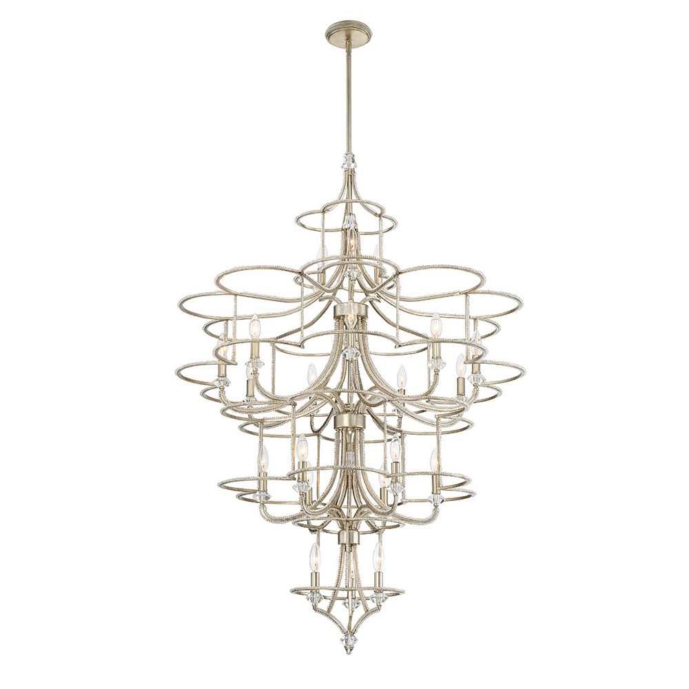 Eurofase Palmisano Collection, 21-Light Silver Chandelier