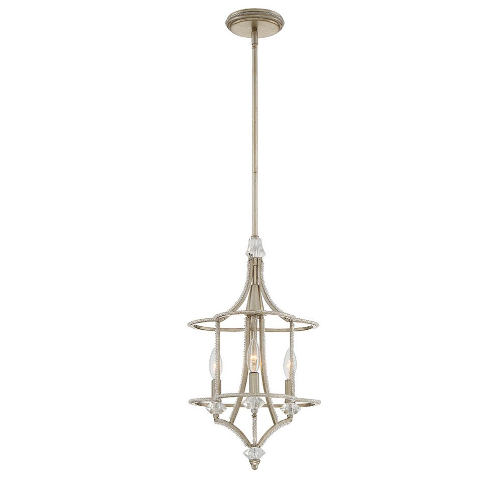 Eurofase Palmisano Collection, 3-Light Silver Chandelier