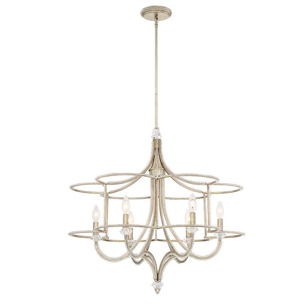 Eurofase Palmisano Collection, 6-Light Silver Chandelier