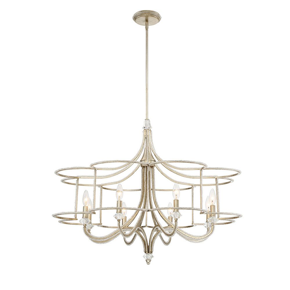 Eurofase Palmisano Collection, 8-Light Silver Chandelier