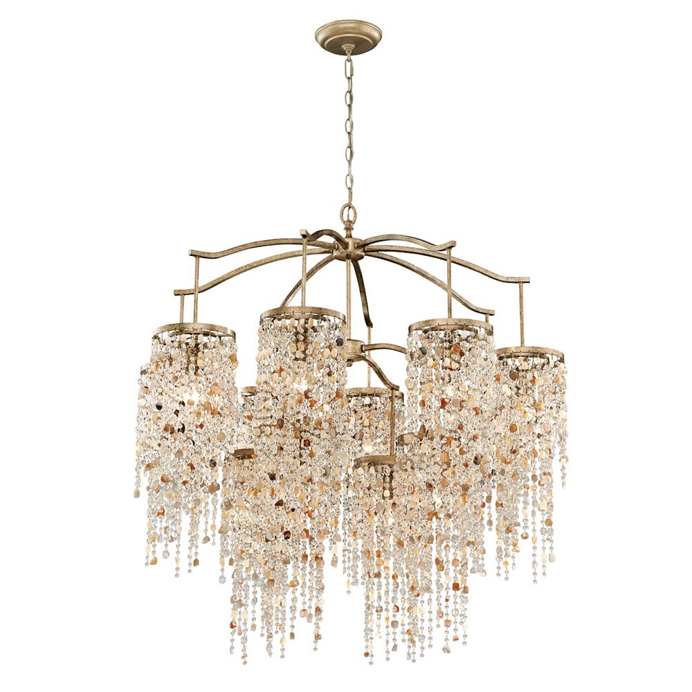 Eurofase Savannah Collection, 12-Light Antique Bronze Chandelier
