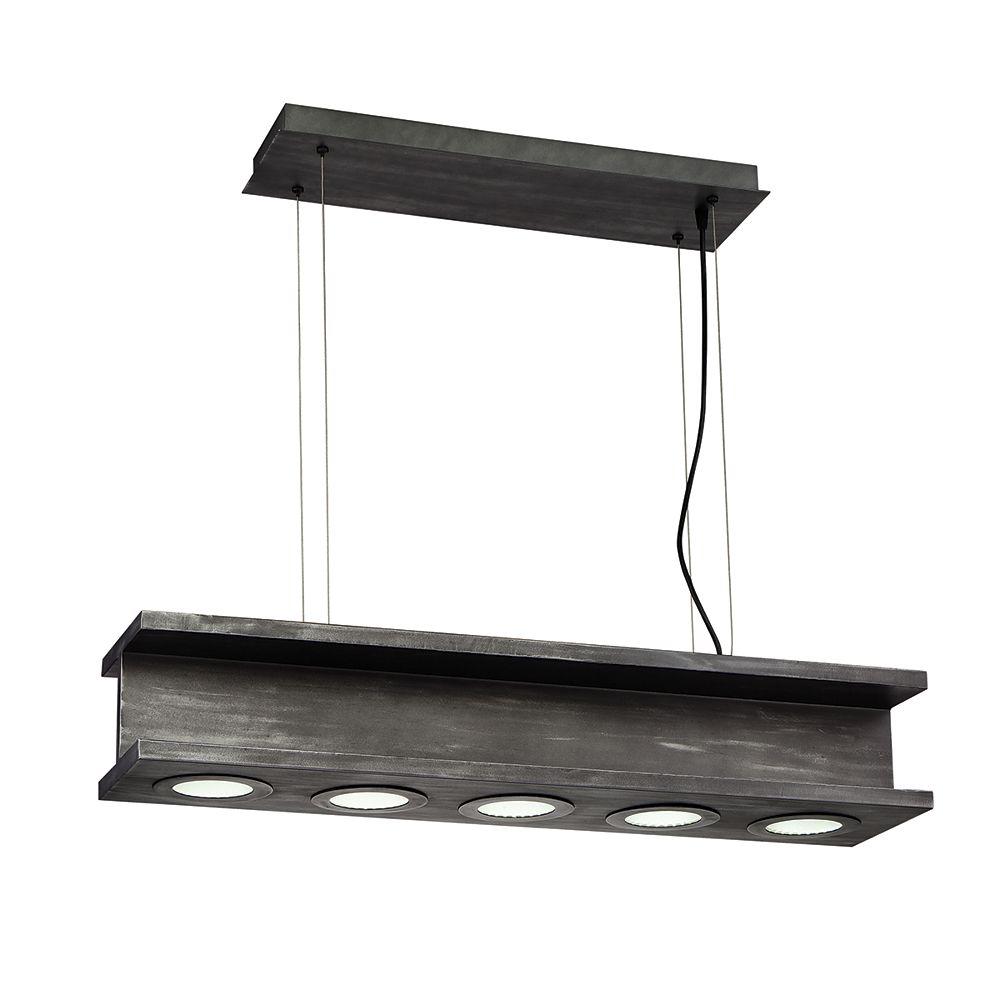 Eurofase Fascio Collection 30-Watt Black Integrated LED  Pendant