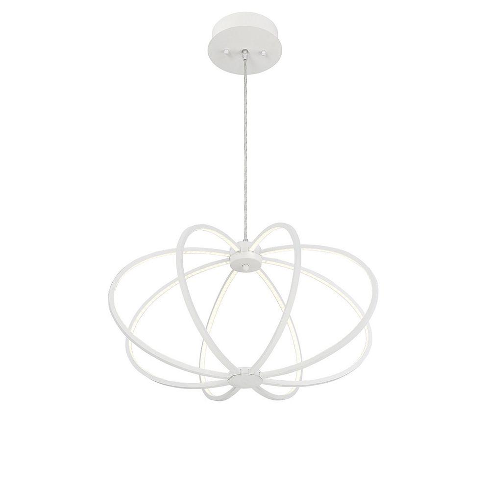 Eurofase Leggero Collection, 8-Light LED White Pendant