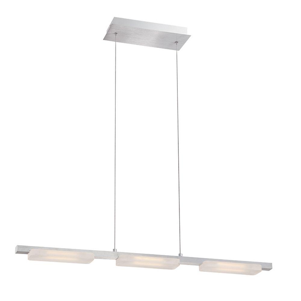 Eurofase Miles Collection, 3-Light Linear LED Aluminum Pendant