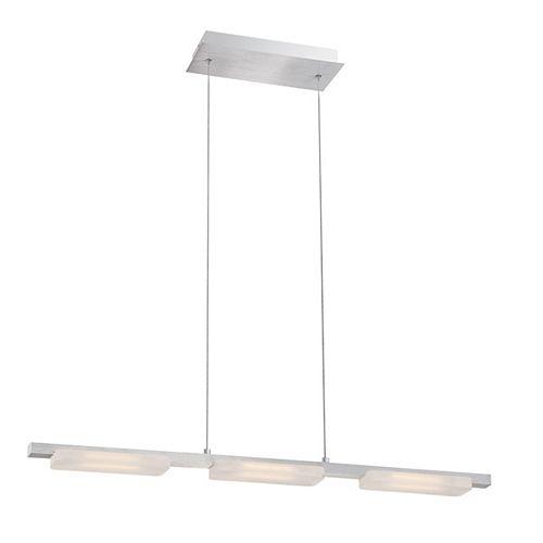 Collection Miles, luminaire suspendu linéaire en aluminium à 3ampoules DEL