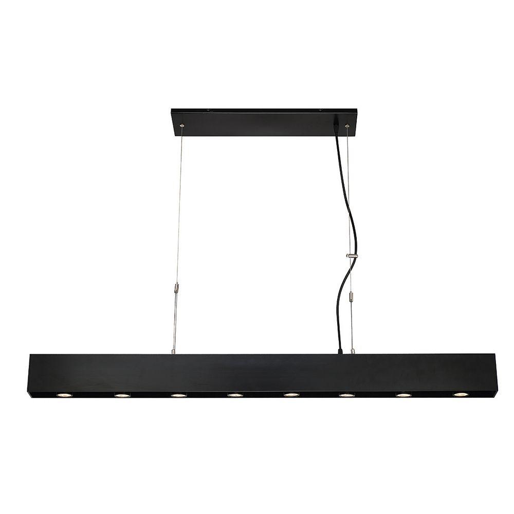 Eurofase Niss Collection 8-Light Black Integrated LED Pendant Light Fixture