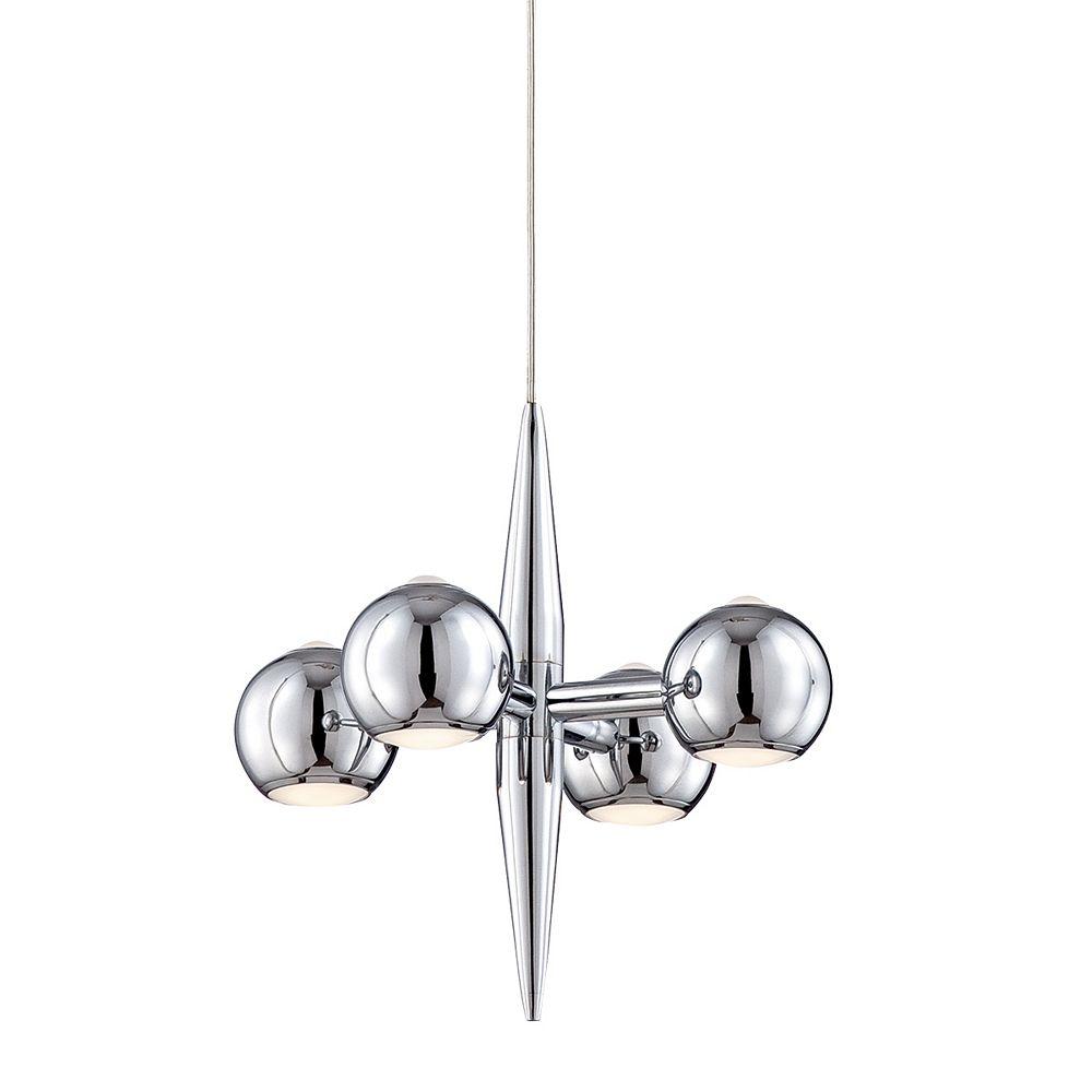 Eurofase Pearla Collection, 4-Light LED Chrome Pendant