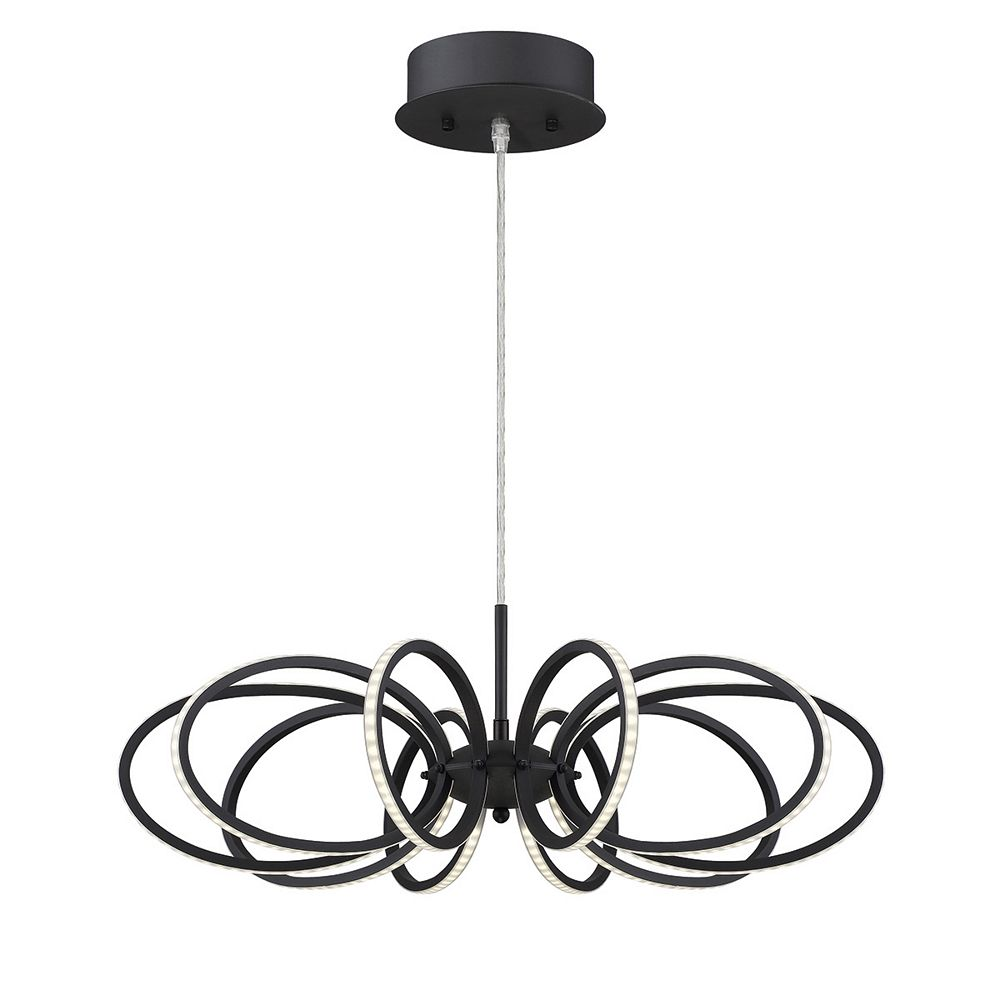 Eurofase Tela Collection, 10-Light LED Black Pendant