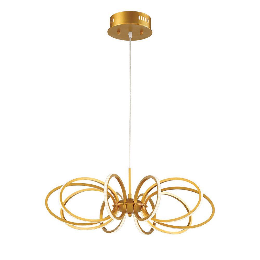 Eurofase Tela Collection, 10-Light LED Gold Pendant