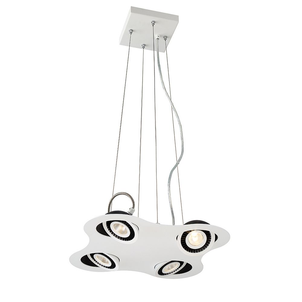Eurofase Vision Collection, 4-Light LED White Pendant