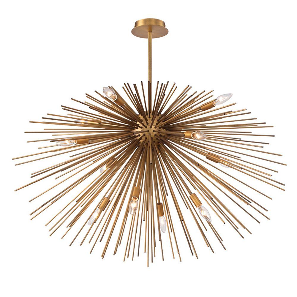 Eurofase Bridget Collection, 12-Light Satin Gold Pendant