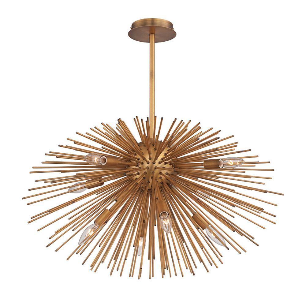 Eurofase Bridget Collection, 8-Light Satin Gold Pendant