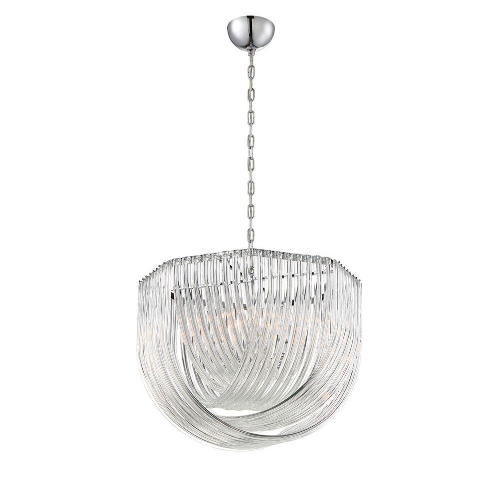 Eurofase Elise Collection, 8-Light Chrome Pendant