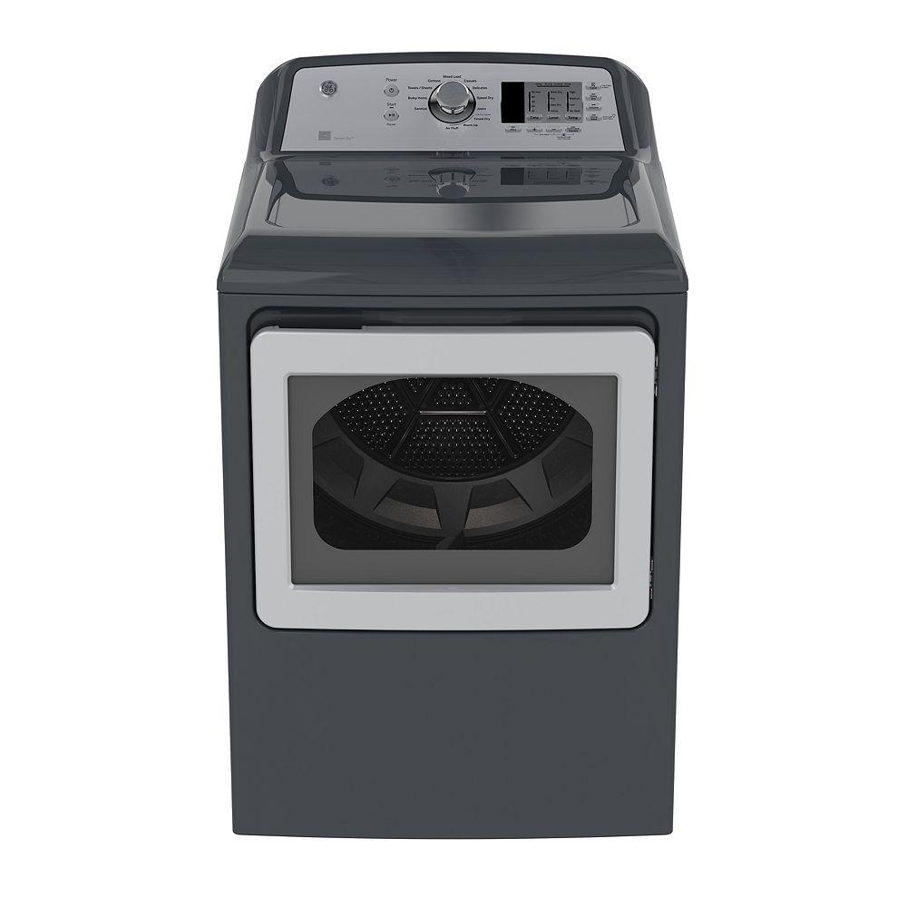 GE 7.4 IEC cu. ft. Top Load Matching Dryer in Diamond Grey