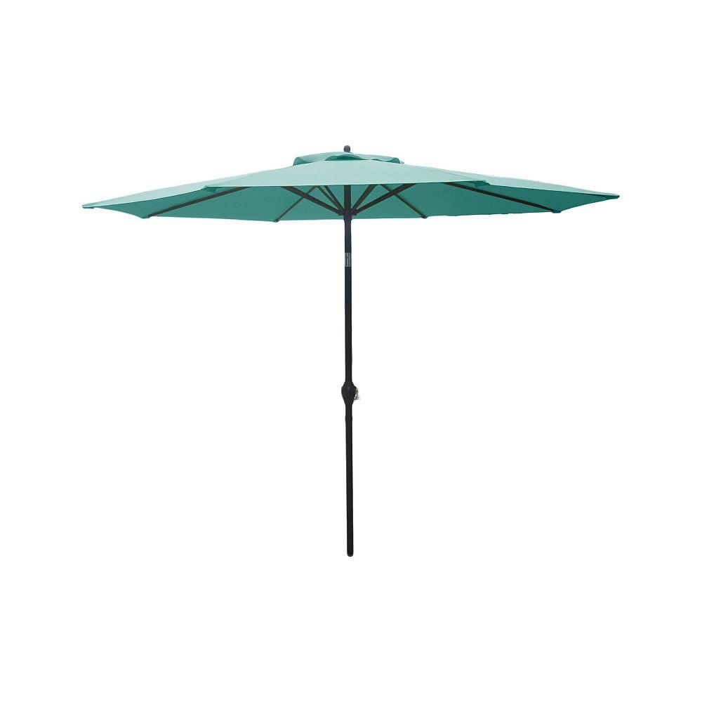 Hampton Bay 9 ft. Market Umbrella in Haze Teal