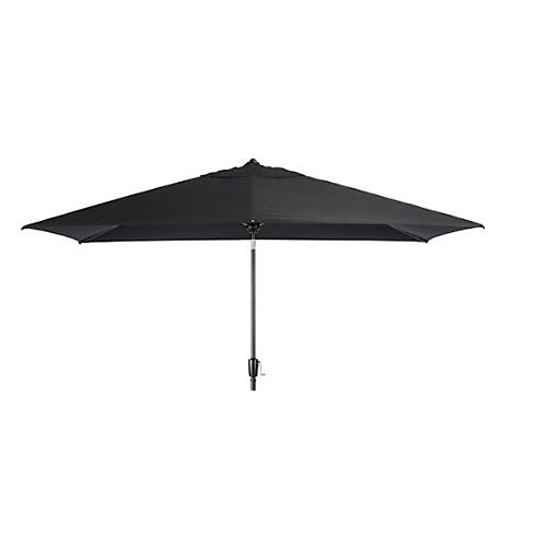 9 ft. x 7 ft. Rectangular Patio Umbrella in Black