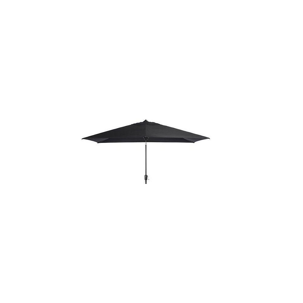 Hampton Bay 9 ft. x 7 ft. Rectangular Patio Umbrella in Black