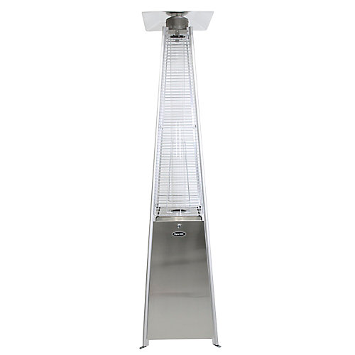 42,000 BTU Stainless Steel Pyramid Flame Patio Heater