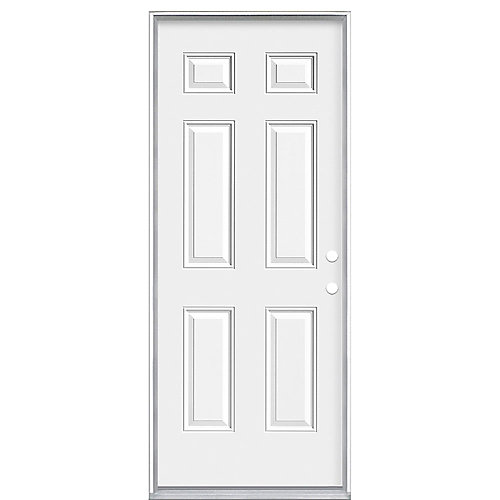 32-inch x 80-inch Left Hand 6-Panel 20 Minute Fire Rated Door - ENERGY STAR®