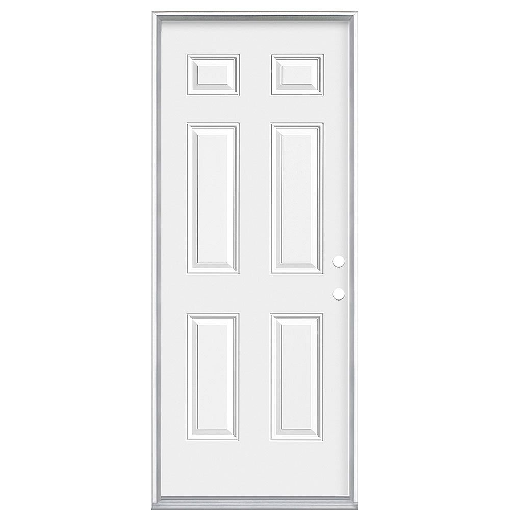 Masonite 32-inch x 80-inch Left Hand 6-Panel 20 Minute Fire Rated Door - ENERGY STAR®
