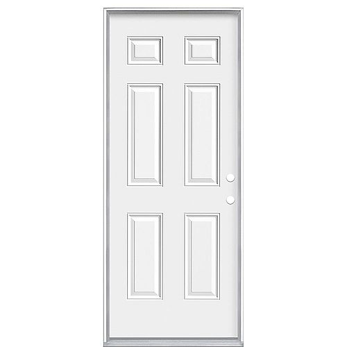32-inch x 80-inch Left Hand 6-Panel 20 Minute Fire Rated Door - ENERGY STAR®