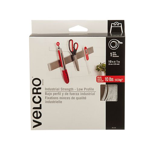 VELCRO ULTRA-MATE TAPE, 10FT, WHITE
