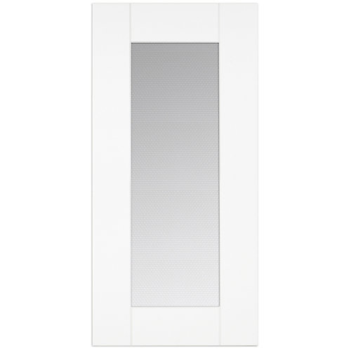 Oxford - Glass Door 15 inch x 30 inch - White matt thermofoil