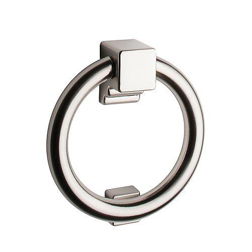 Solid Satin Nickel Ring Door Knocker