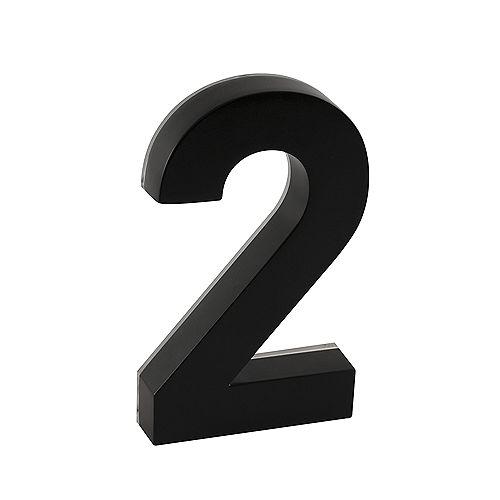 Backlit LED 6-inch Black Metal House Number