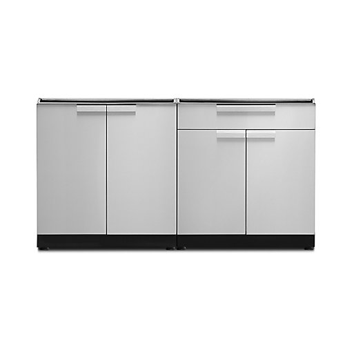 Classic 64-inch x 24-inch 2-Piece Stainless Steel Outdoor Kitchen