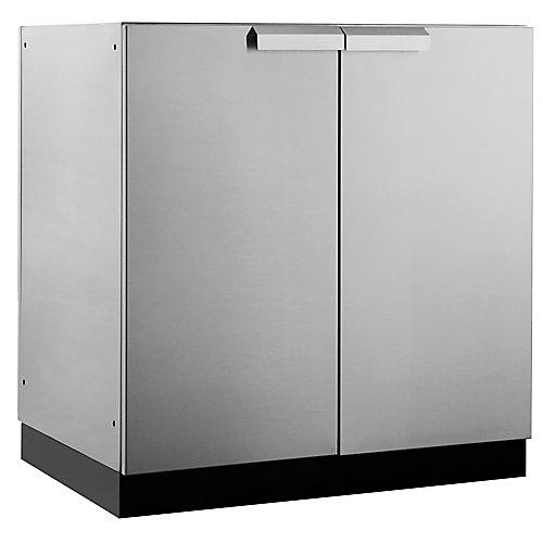 Classic 2-Door Stainless Steel Outdoor Kitchen Cabinet