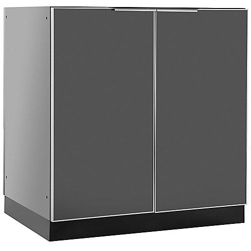 Aluminum Slate 32-inch 2 Door Base 32x35x24-inch Outdoor Kitchen Cabinet
