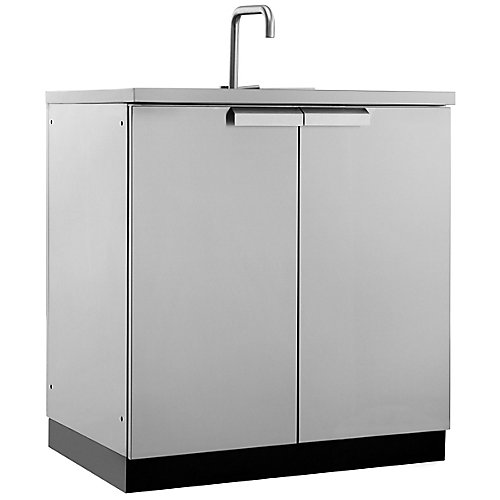 Classic Stainless Steel Outdoor Kitchen Sink Cabinet